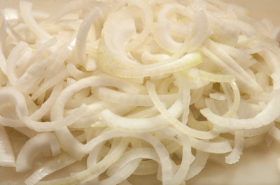 Pile of Sliced onions