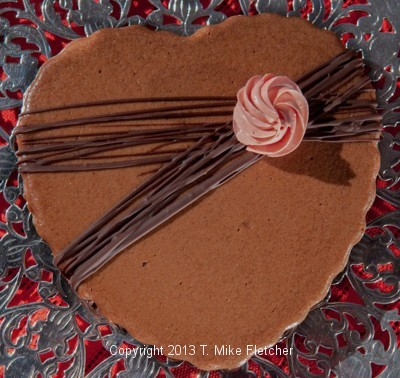 Triple Chocolate Heart Tart