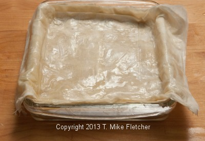 Top Layer of Phyllo on