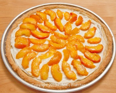 Peaches on crust