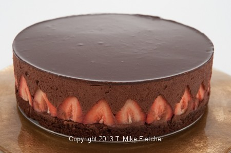 Whole Torte, Chocolate Strawberry Mousse Torte