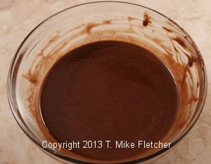 Butter/chocolate completely mixed