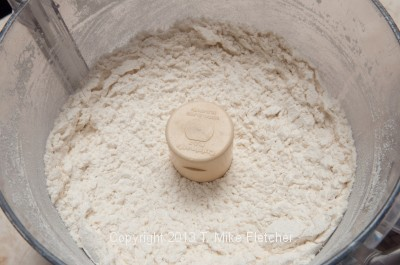 Cheese in processor grated