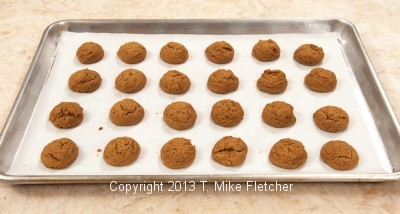 Tray of Baked Cookies
