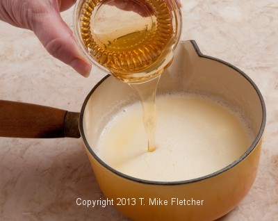 Honey being added