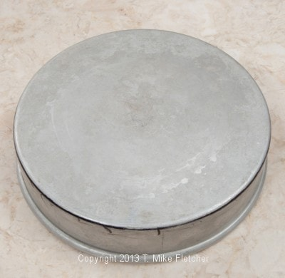 Pan turned over