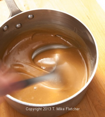 Stirring to get it creamy