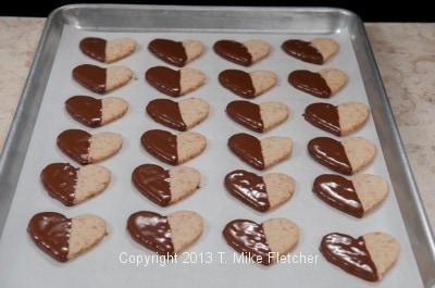 Tray of glazed cookies