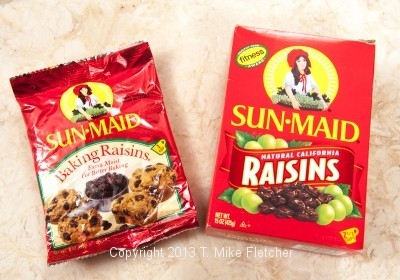 Two kinds of raisins