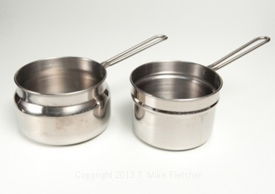 Double boiler separate