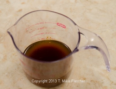 Coffee in water for syrup