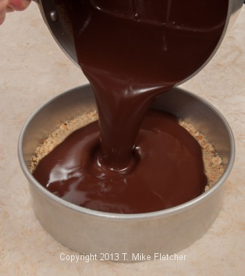 Chocolate being poured