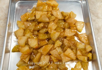 Quick cooling apples