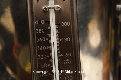 Thermometer at 350 degrees