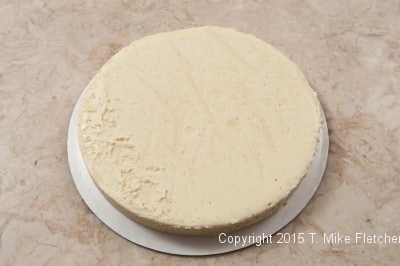 Released cheesecake layer
