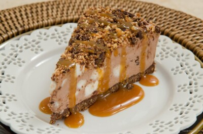 No Bake Rocky Road Cheesecake