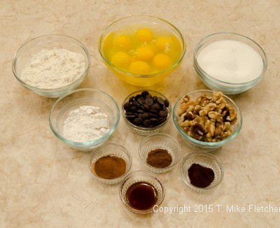 ingredients for Viennese Apricot Torte