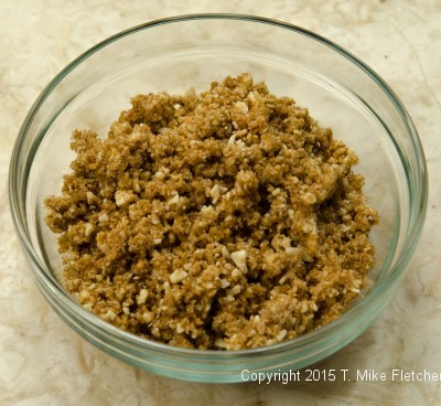 Amaretti Crumble finished for Baked Pluots with Amaretti Crumble