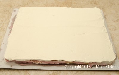 Top layer of Italian buttercream speed out