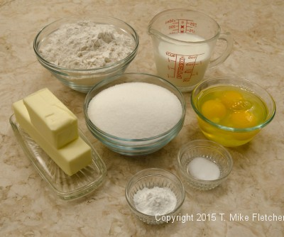 Ingredients for A Tale of One Cake Layer