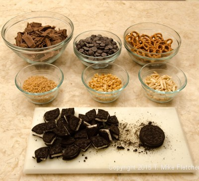 Ingredients for TJ's Cowboy Bark