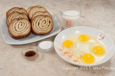 Ingredients for Stuffed Cinnamon French Toast