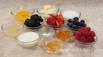 Orange Sauce and Berries for the Stuffed Cinnamon French Toast