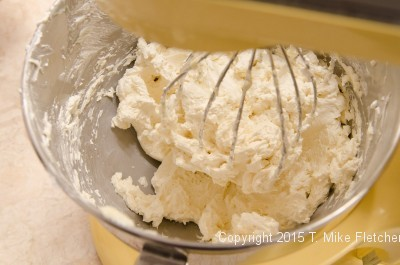 Buttercream before adding the chocolate