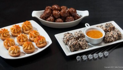 Three appetizers for Last Minute Appetizers