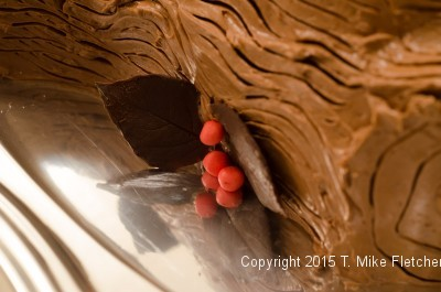 Berries and leaves for the Buche de Noel