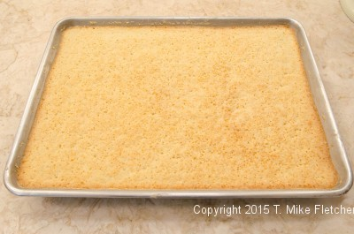 Base baked and sealed for the Updated Lemon Bars