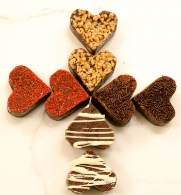 Two Ingredient Fudge Hearts
