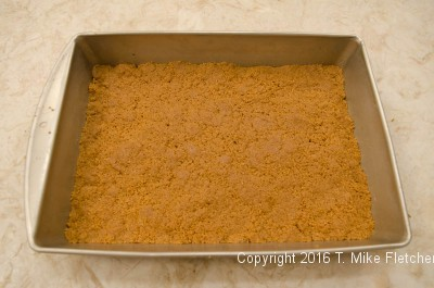 Crumbs pressed in for S'Mores Bars