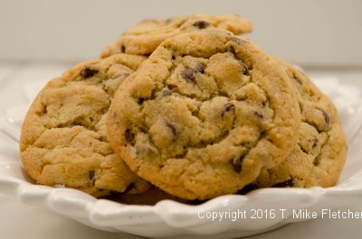 Bowl of chocolate chip cookies for My Perfect Chocolate Chip Cookies