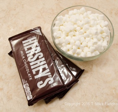 Topping ingredients for S'Mores Bars