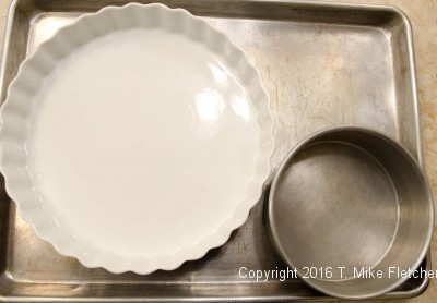 Containers for water baths for the Lemon Raspberry Pudding Cake