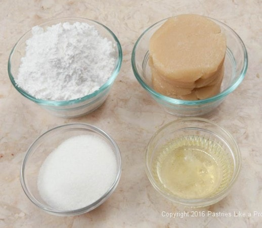 Ingredients for Almond Macaroons