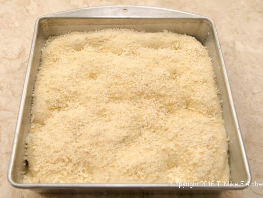 Cheese on top layer for Stuffed Focaccia