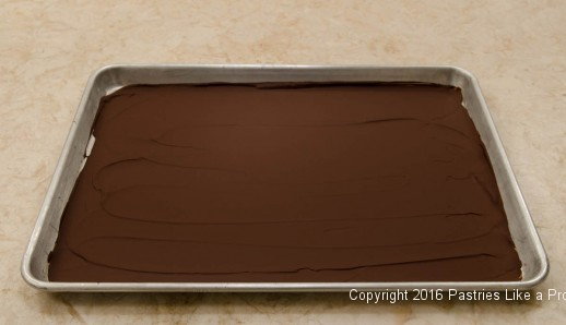 Chocolate chilled for curls