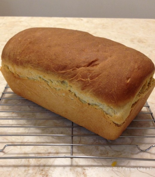 Loaf of bread made with the Breville mixer