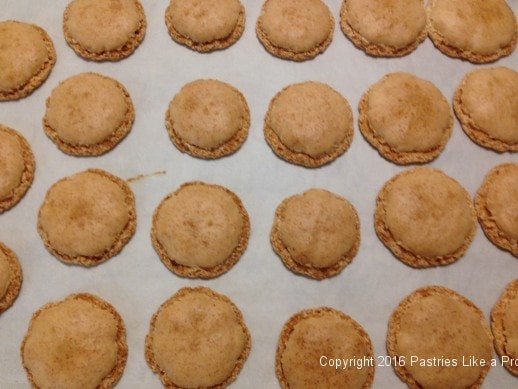 Baked almond macaroons for How to Make Almond Paste