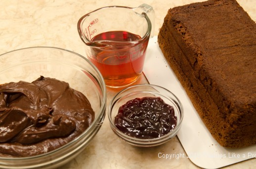 Ingredients to finish the Chocolate Raspberry Gateau