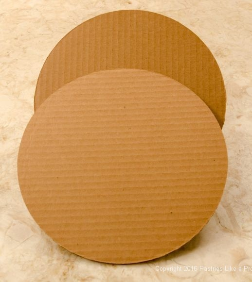 Two corrugated boards with the corrugation in opposite directions for Internet Bakery Suppliers of Cake Paper Goods