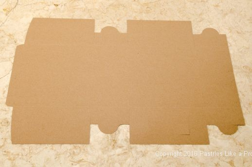 Brown interior of box for Internet Bakery Suppliers of Cake Paper Goods