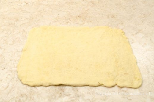 Dough rolled out to 17x13 for Kouign Amann