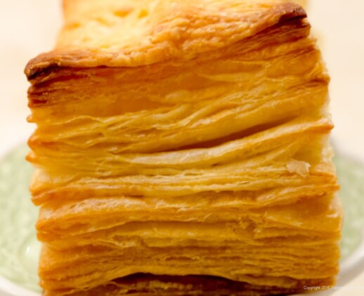 Baked Puff Pastry for American Butter vs. European Butter for Laminated Doughs