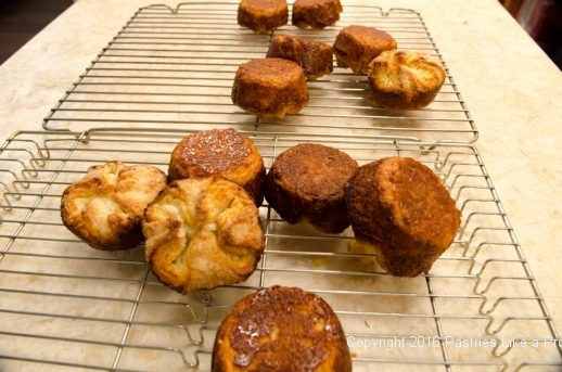 Pastries turned out for Kouign Amann