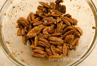 Hot Peppered Pecans mixed.