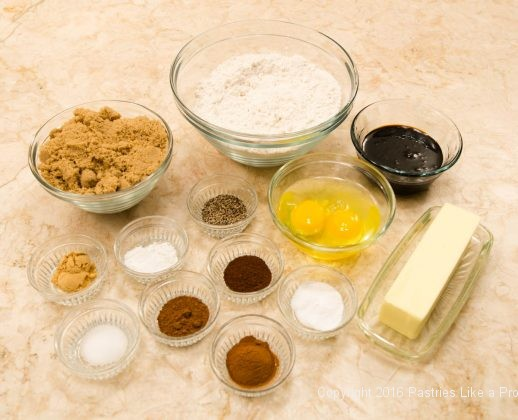 Ingredients for Hermit Bars