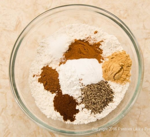 Spices and flour for the Hermit Bars